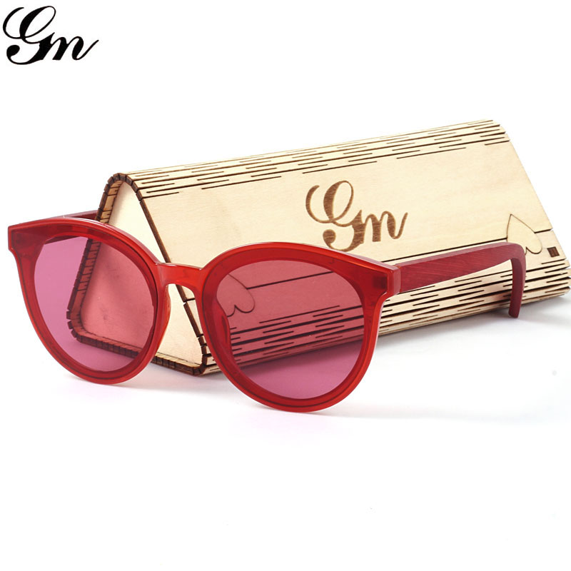 G M 2018 New Sunglasses, Candy-Colored Glasses, Boys, Girls, Bamboo And Wooden Sunglasses.