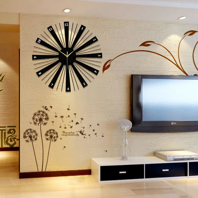 Us 34 2 10 Off Modern Home Decoration Watch Wall Silent Large Round Clock Design For Living Room Decor In Clocks From Garden
