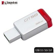 Kingston New Arraival DT50 32gb Pen Drive USB 3.1 Metal Pendrives High Speed USB 3.0 usb memory stick U Disk Hot Sale