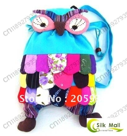 Free shipping! Handmade OWL Bag/Handmade craft owl bag/kids backpack satchel