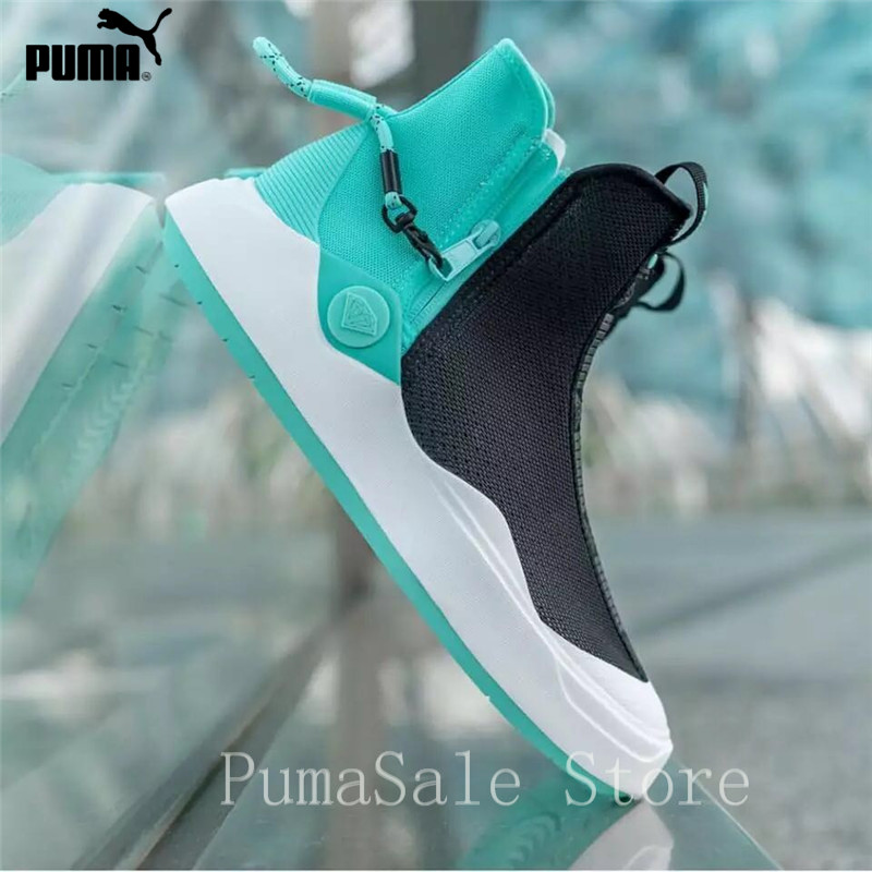 PUMA Diamond Supply x Abyss Knit Sneakers Men And Women Shoes 365655-01  High Top Black Green Grey Sport Shoes Size EUR36-44 bd7d59a76