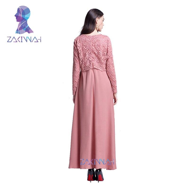 Yeni İslam Abaya Dantel Elbiseler Kadın Kaftan Kaftan Malezya - Ulusal Kıyafetler - Fotoğraf 4