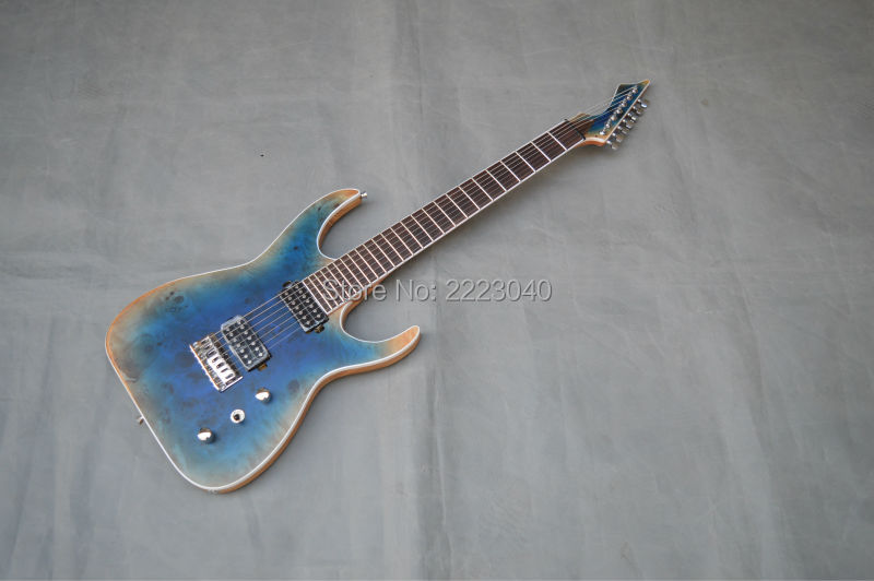 factory custom ocean blue color 7 strings blackmachine electric guitar top quality ash wood body. Black Bedroom Furniture Sets. Home Design Ideas