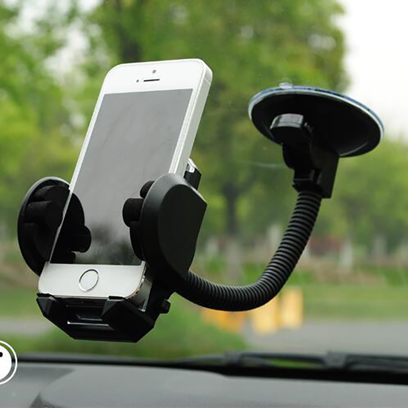 Phone-Holder Suction-Cup Car-Windshield-Mount Mobile-Phone Universal Rotatable