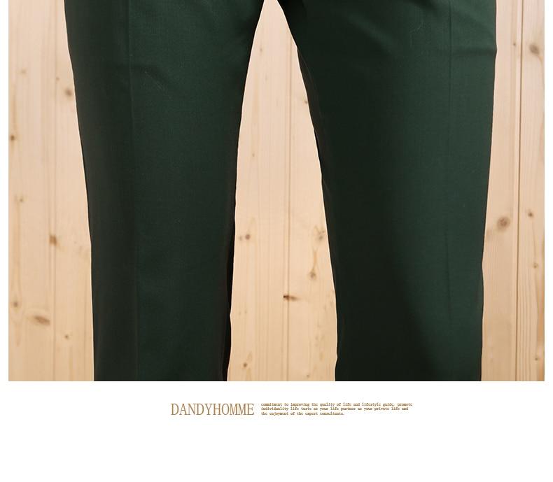 Новинка года Высокое качество осень весна smart повседневное тонкий молодой человек Зеленый Белый Бизнес Свадебные Жених костюмы дл