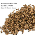 Copper Micro Beads 2.8*2.3*7.0MM 1000Pcs/Bottle #6 Medium Blonde Hair Dreadlocks Beads Metal Dreadlock Bead