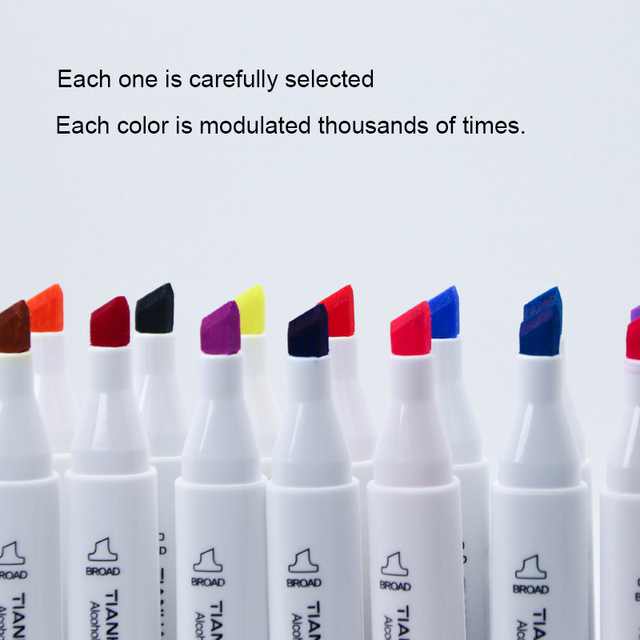 168 Colors Single Art Markers Brush Alcohol Based Markers Sketch Pen Dual Drawing Painting Set Manga Architecture Art Supplies 2