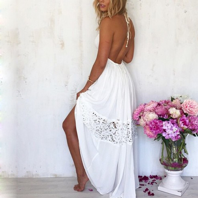 Detail Feedback Questions about Sexy Open Back Backless Long Dress  Sleeveless Woman Maxi Floor Length Casual Beach Boho White Dresses Vestidos  on ... 0571944c3d71