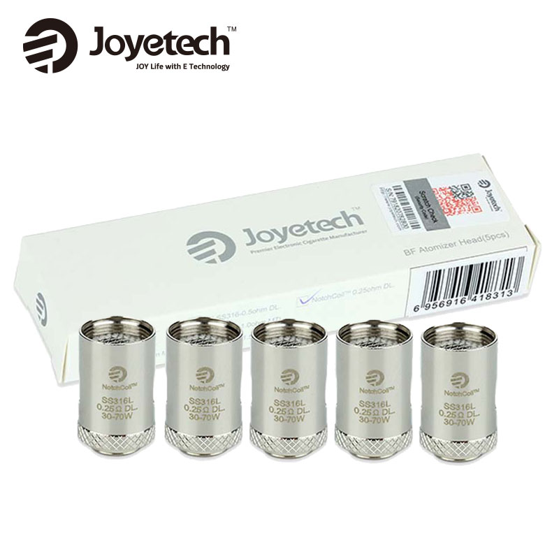 20pcs Lot Original Joyetech Cubis NotchCoil DL Coils 0 25ohm SS316L Atomizer Head for Cuboid Mini