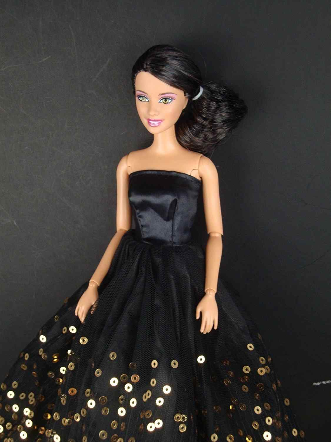 06abb2bf5276d LeadingStar Dress with Lots of Gold Sequins Made to Fit for Doll Great  Children Gift Birthday Dress for doll