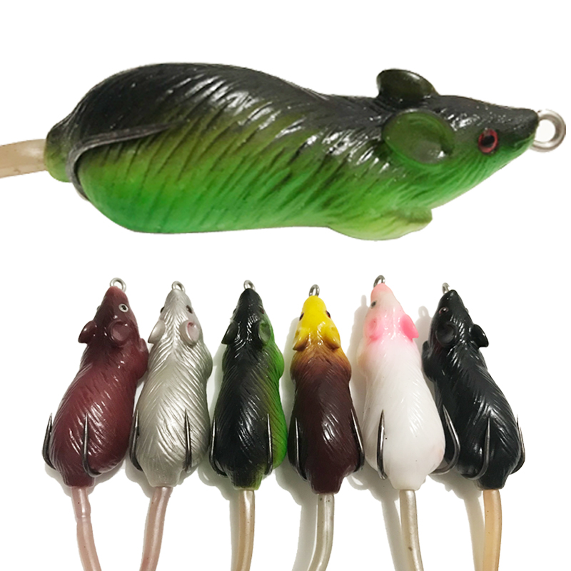 KASSYAA 10 6g 6 5cm 3D Eyes Soft Mouse Top Water Fishing Lure Soft PVC Swimbaits For Bass Snakedhead Lure Fishing Baits KXY038 in Fishing Lures from Sports Entertainment