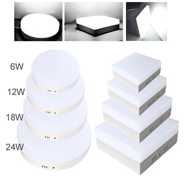 Energiebesparing 6/12/18/24 W LED Plafond Gemonteerd Beneden Panel ...