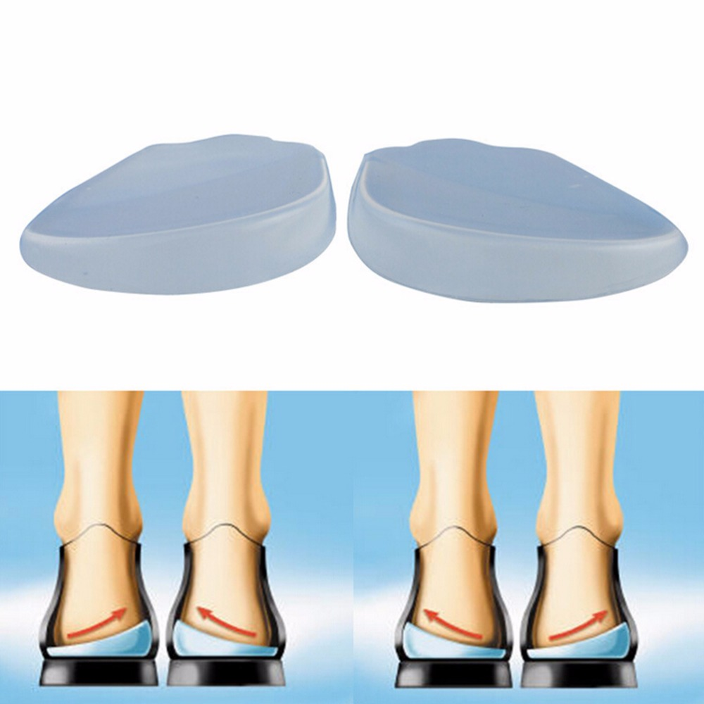 2Pcs Silicone Insoles Orthotics X/O-Type Legs Corrector Gel Pillow For Heel Orthopedic Insoles Shoes Pad Heel Patches