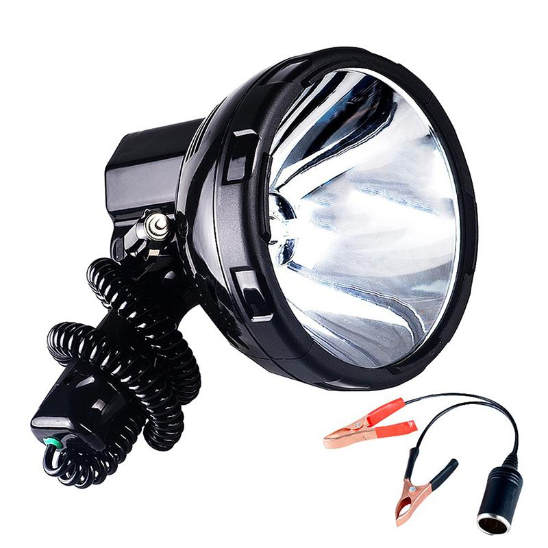 SOLLED Высокая Мощность Ксеноновая Лампа Открытый Ручной Охота Рыбалка патрульный автомобиль H3 HID прожекторы 220 Вт грыжа прожектор - Испускаемый цвет: white light 220W