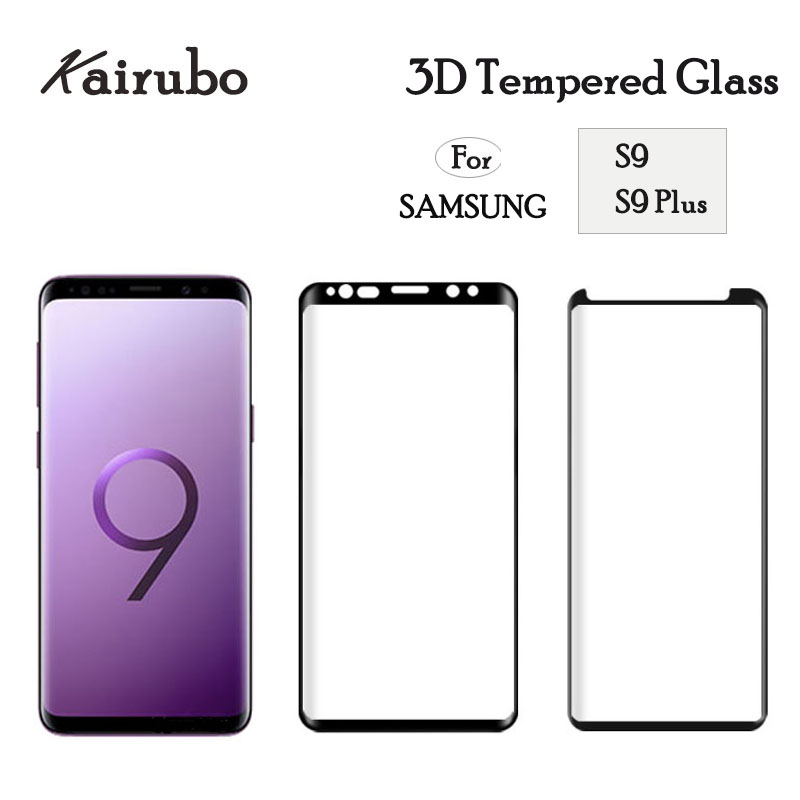 3PCS Full Cover Case Friendly Tempered Glass For Samsung Galaxy S9 Plus S9 Screen Protector Protective Film For Samsung S9 S9 in Phone Screen Protectors from Cellphones Telecommunications