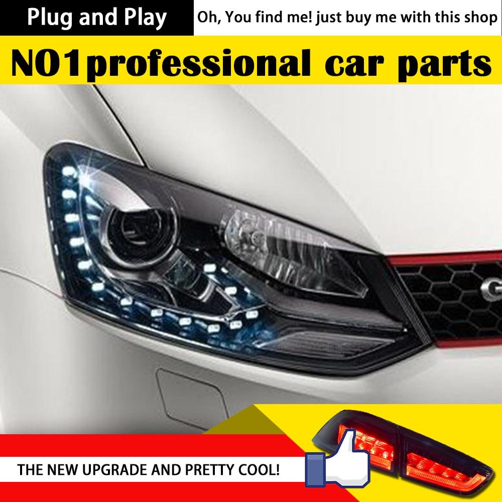 AKD Car Styling for Volks Wagen Polo LED Headlights Original GTI DRL Bi Xenon Lens High Low Beam Parking Fog Lamp Accessories