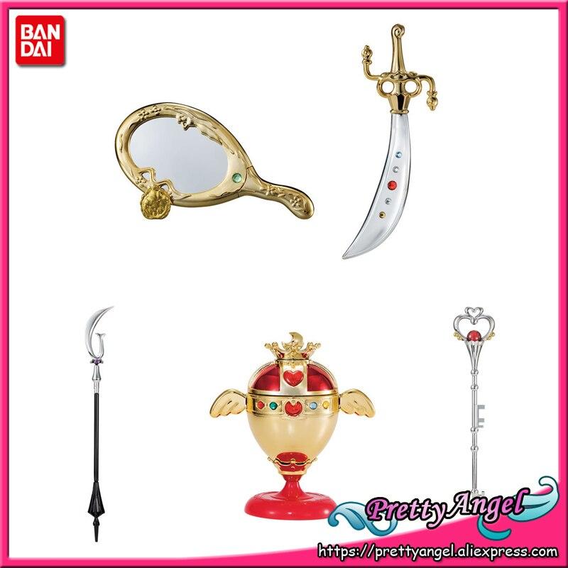 PretyAngel Genuine Bandai Gashapon Sailor Moon Wand Charm Sailor Moon Stick Rod Vol 5 Set Set