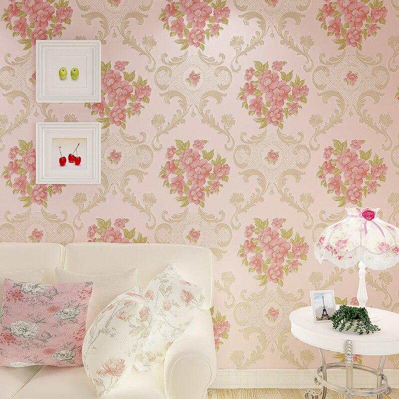 Beibehang mural papier peint décor à la maison fond mur damassé papier peint Floral revêtement mural 3d plancher papier peint pour salon