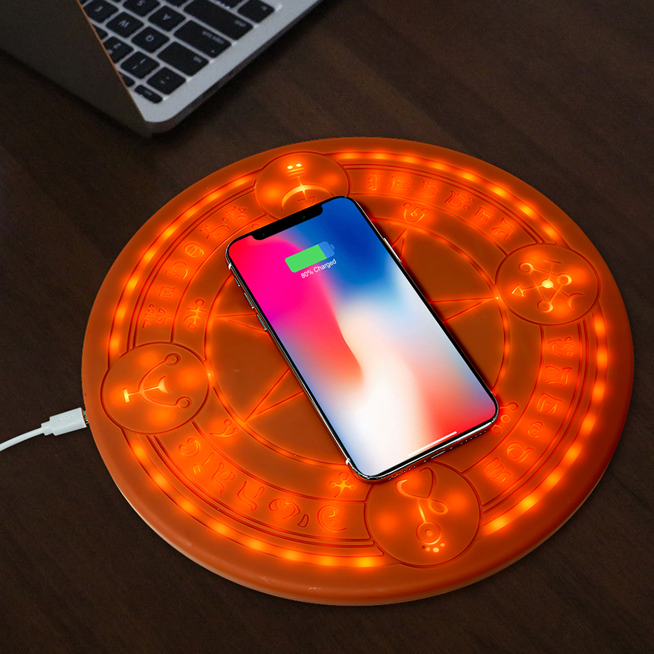 10W Magic Array Wireless Charger Universal Circle Qi Wireless Fast Charger Charging Pad For iPhone X XS Max XR Samsung with Box (15)