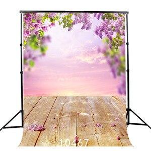 Children's Spring Flower Sky Vinyl Photography Backdrops Naturism Photo Studio Background Props