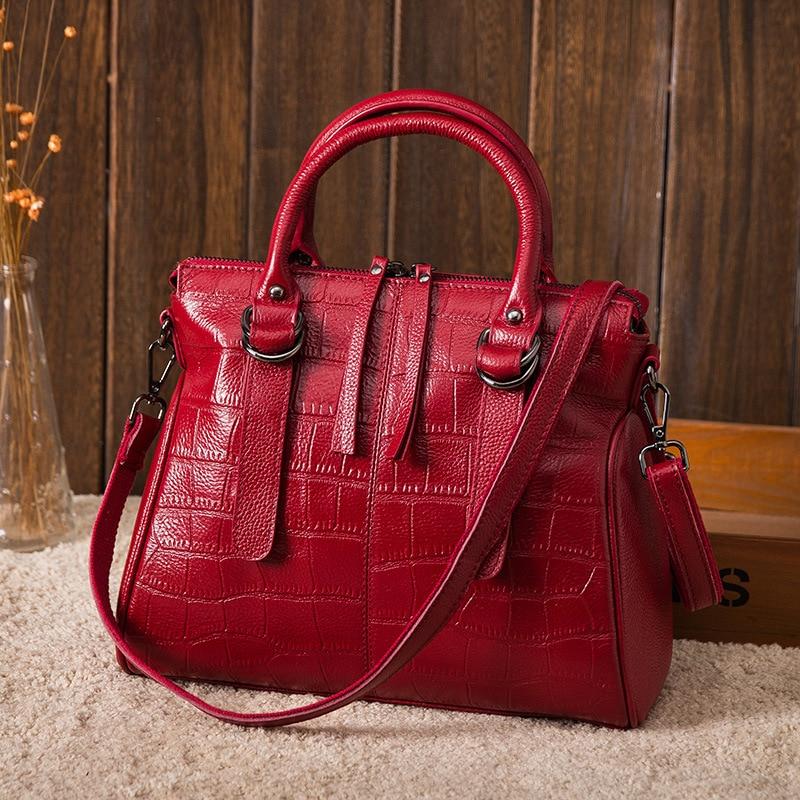 Fashion Crocodile Pattern Luxury Handbags For Women Genuine Leather Crossbody Shoulder Bags Female Casual Totes Messenger Bag