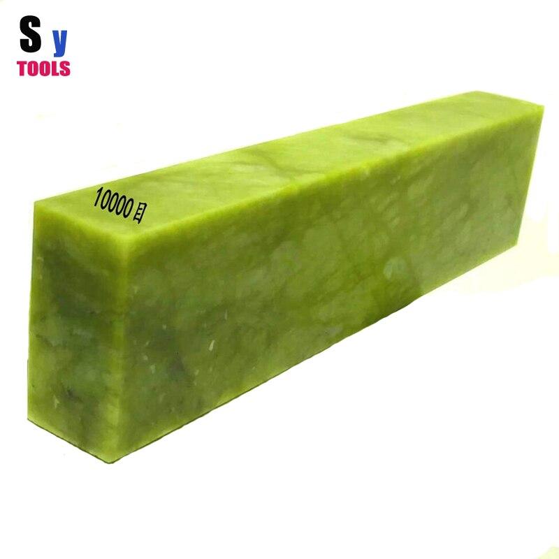 10000 Grain Vert Émeraude Naturelle Huile Cuisine extérieure Couteau whetstone fin Polissage pierre 7.87*2*1 pouce