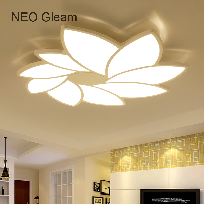 NEO Gleam Modern Led Ceiling Chandelier Lights Ultra-thin White plafon Ceiling Chandelier Lamp Fixture For Living Room Bedroom modern led chandelier light fixture for living room bed room kitchen led ceiling lamp plafon acrylic luminaire 5cm ultra thin