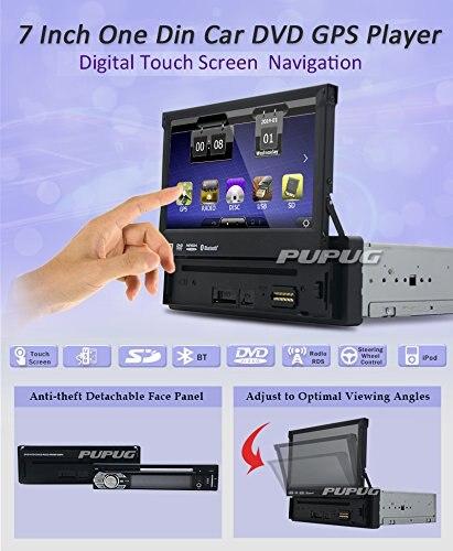1 din 7 дюймов Bluetooth цифровой медиа-стерео ресивер с GPS навигации FM AM Радио головное устройство автомобиля DVD плеер