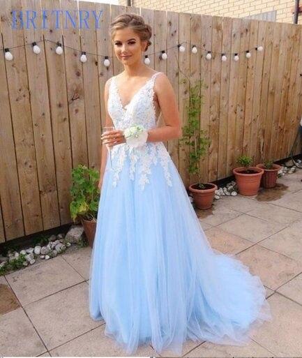 BRITNRY 2019 nouveau produit pas cher col en V Tulle une ligne robe de mariée en dentelle blanche pour mariage