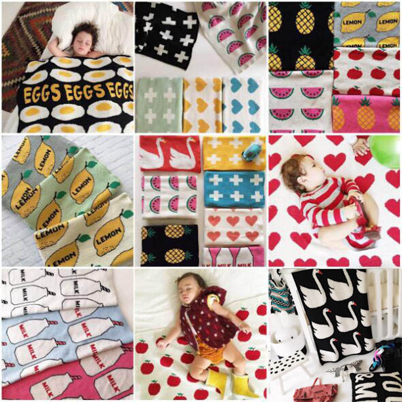Handmade Baby Knitted Blankets Cross/Rabbit/Swan Cotton Plaid Blanket For Bed Sofa Crib Cot Cobertores Mantas Swaddle Bath Towel bohemian cotton blanket sofa decorative slipcover throws on sofa bed plane travel plaids rectangular color stitching blankets