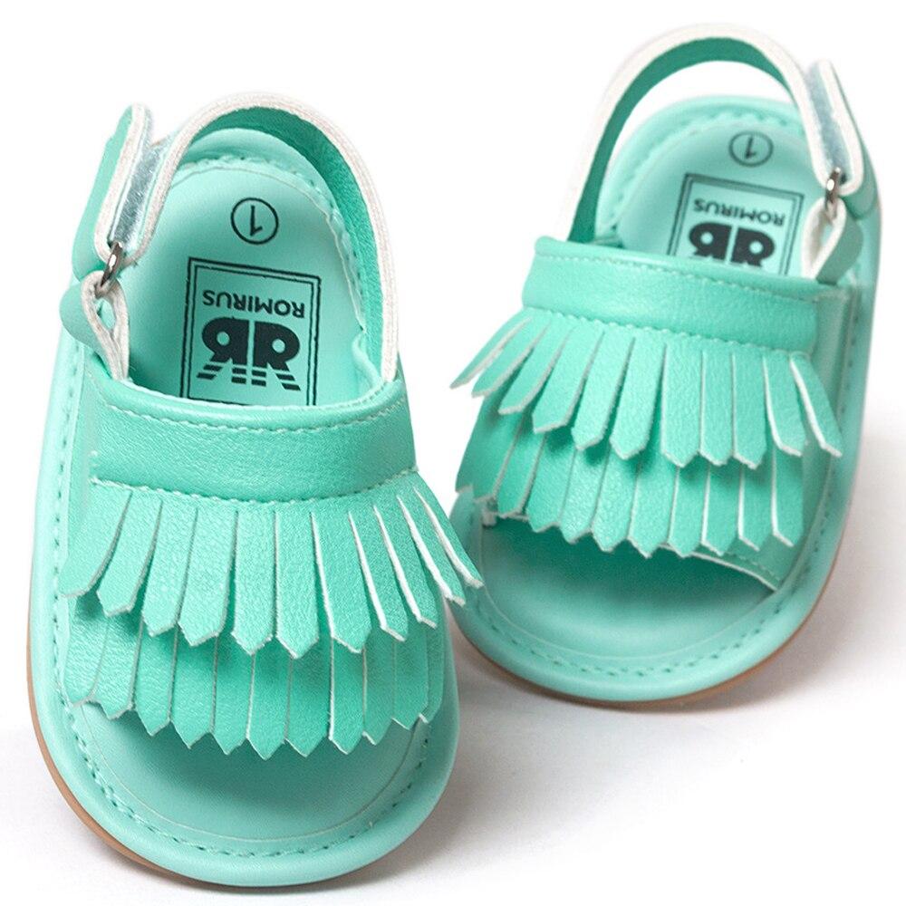 ROMIRUS Baby Shoes Sandals Casual Fashion PU Tassel Sandals For Children kids Girls Boys - Brown