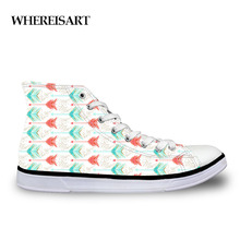 WHEREISART 2019 Fashion Canvas Shoes A Shot in Water Print