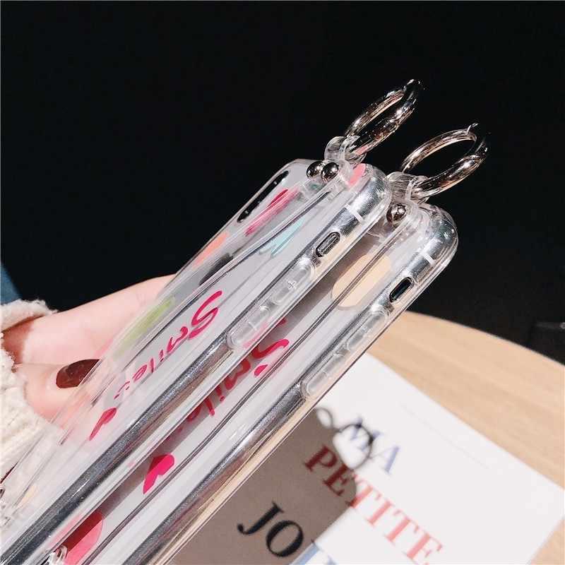 Роскошный кронштейн с ремешком на руку, мягкие силиконовые чехлы для телефонов iPhone XS Max XR X 10 8 7 6s Plus, чехол