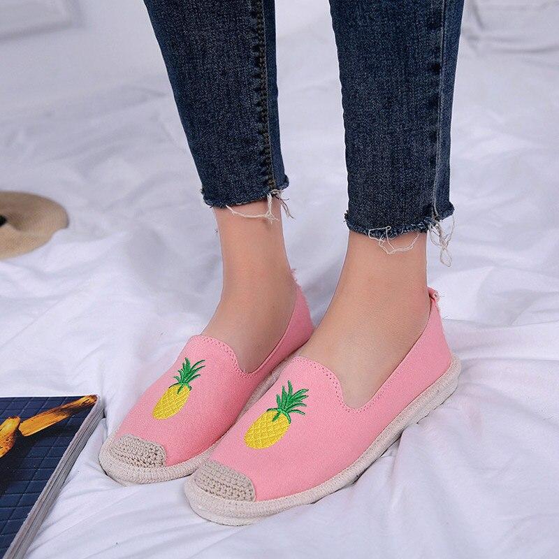 Zapatos Mujer Lona Casual Moda De Slip negro Wml99 Beige Chica Mocasines rosado 1 azul On Transpirable Par Planos Para wWB7EEqR