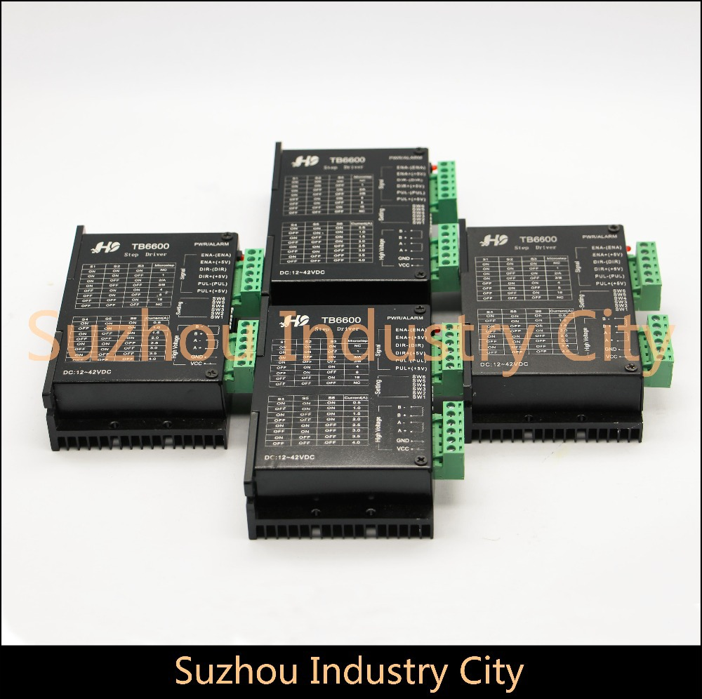 4pcs Nema17, Nema23 CNC stepping motor driver TB6600 Stepper motor Driver 16 micsteps 42VDC 4.5A, motion motor speed control original new touch screen prestigio 10 1 pmp7100d 3g tablet fpdc 0085a 1 touch panel digitizer dns airtab m100qg free shipping
