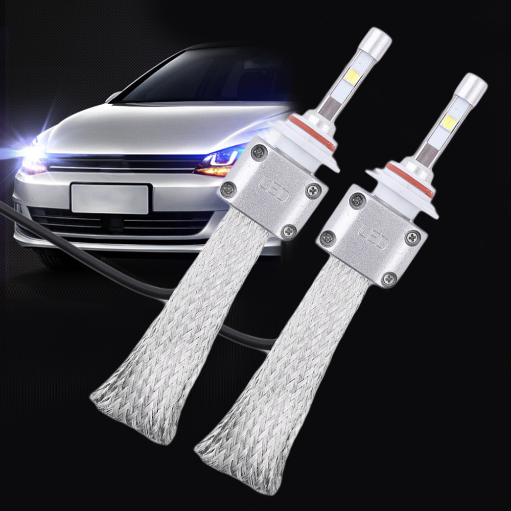 1Pair A8 9005 Car LED Headlamp Bulb Head lights Replace Xenon Headlights 5500LM 12V-36V 120W 3000K 6000K LED Light White 12v led light auto headlamp h1 h3 h7 9005 9004 9007 h4 h15 car led headlight bulb 30w high single dual beam white light