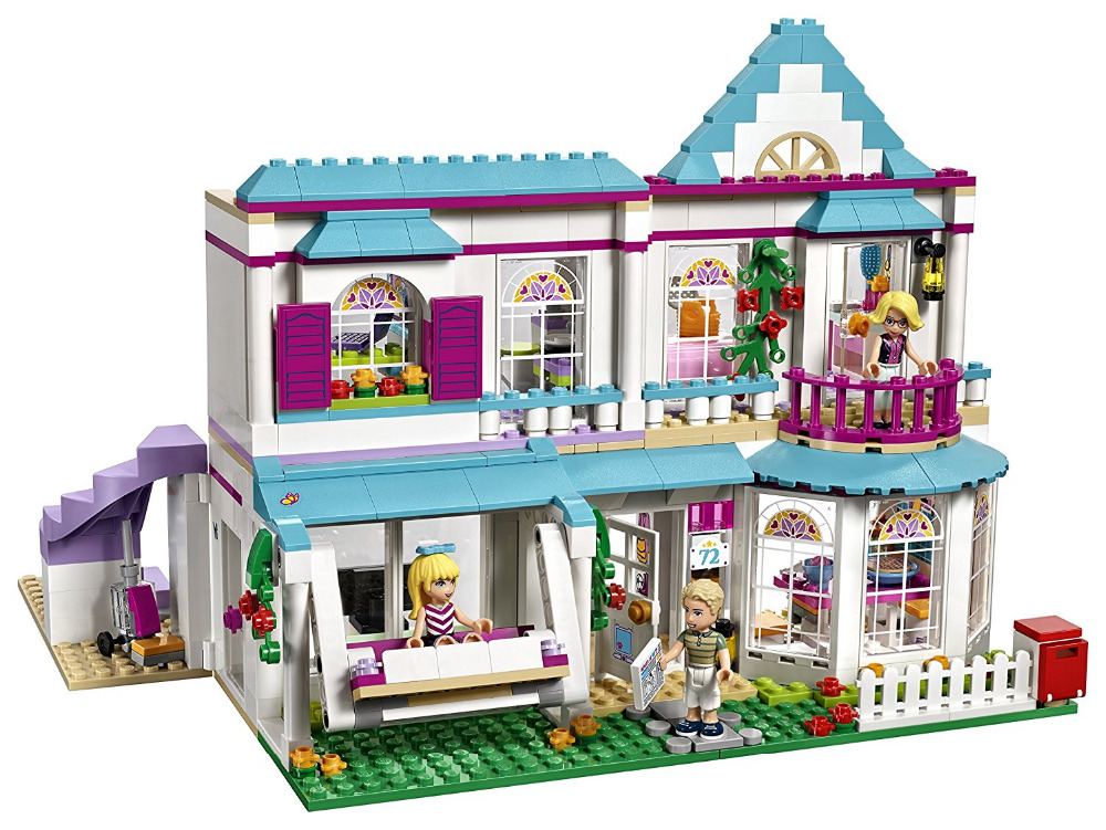 LEPIN Friends Series Stephanie's House Building Blocks Classic For Girl Kids Model Toys  Marvel Compatible Legoe new 7033 friends series the city park cafe pirate ship model building block classic girl toys compatible with lepin