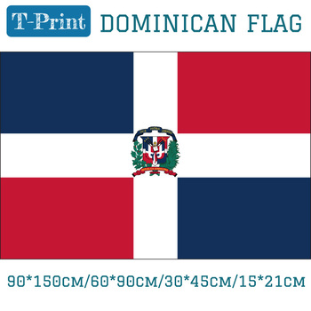 The Dominican Republic National Flag 3x5ft Hanging Flag 90*150cm/60*90cm/15*21cm/30*45cm Car Flag image