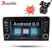 Восьмиядерный Android 8,0 автомобиль DVD gps навигации мультимедийный плеер Wi-Fi стерео радио для Audi A3 2003-2012 4G RAM 32G ROM OBD DAB FM