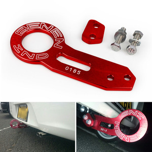 Image 5 - RASTP   Free Shipping Universal Aluminum BENEN Car Rear Tow Hook Set For Most Car Auto Trailer Ring RS TH002