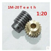 1 комплект От 1 месяца до 20 лет Передаточное отношение: 1: 20 медная червячная передача редуктор детали передачи отверстие шестерни: 5 мм отверстие стержня: 5 мм