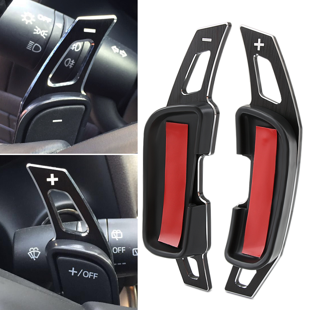 2PCS Steering Wheel Gear Shift Paddle Shifter For Mazda 3 6 BM GJ CX3 CX5 Parts