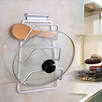 3 Layers Cabinet Door Hook Pan Pot Cover Lid Rack Stand Stove Organizer Kitchen Storage Holder