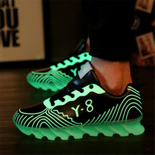 Men Leather outdoor Wedge Fashion luminous blade fluorescent casual Walking shoes Common projects zapatillas deportivas hombre