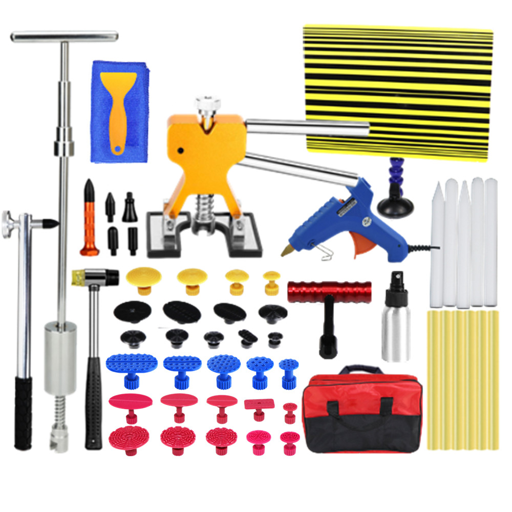 PDR Dent remove tools car dent repair Paintless Dent Removal Puller Lifter PDR Tools Line Board Repair Hammer Hail Kit