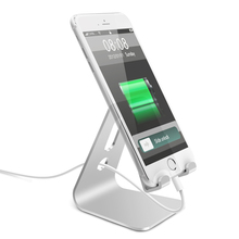 3.5 inch To 8 Silver Aluminium Alloy Stand Desk Holder For iPhone iPad Tablets Mount Universal Charging Cable