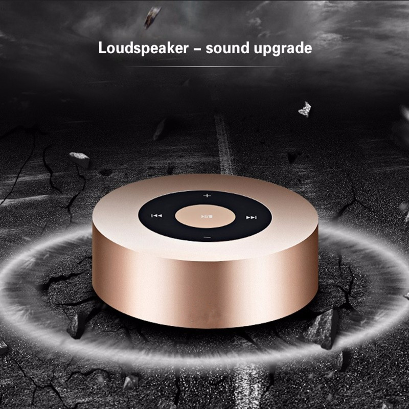 Akaso New Metal Mini Portable Speaker Wireless Bluetooth Speakers 3W 4 OHM Strong Bass Portable Audio