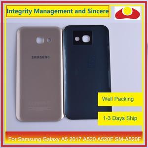Image 5 - מקורי עבור Samsung Galaxy A5 2017 A520 A520F SM A520F שיכון סוללה דלת אחורי כיסוי אחורי מקרה מארז פגז החלפה