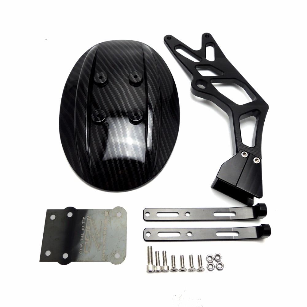Motorcycle CNC Aluminum Rear Wheel Tire Fender Mudguard Block Black For Kawasaki Z1000 Z1000SX 2010-2016