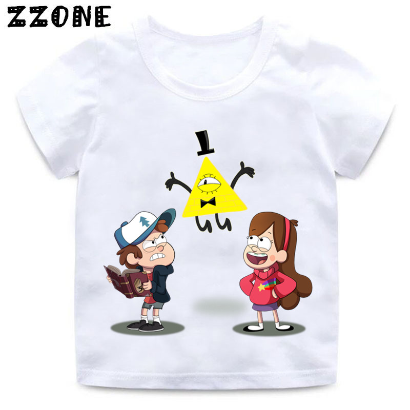 Boys and Girls Gravity Falls Cartoon Mabel Dipper Pine Print T shirt Kids Funny Clothes Enfant Summer White T-shirt,HKP2415Boys and Girls Gravity Falls Cartoon Mabel Dipper Pine Print T shirt Kids Funny Clothes Enfant Summer White T-shirt,HKP2415